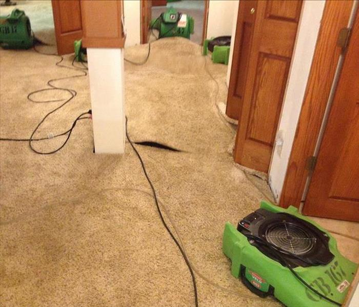 Drying Wet Carpeting After