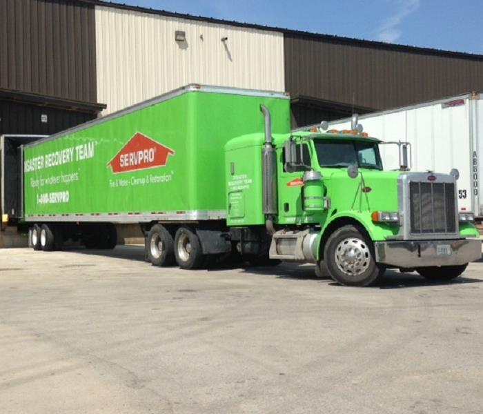 Green Bay SERVPRO of East and West Brown County SERVPRO SEMI for getting resources to disasters